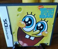 SpongeBob's Truth or Square (Nintendo DS, 2009) - Case, and Manual Only No Game!