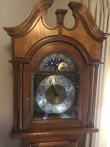 Ridgeway Moon Phase Grandfather Clock Floor Pendulum Chimes