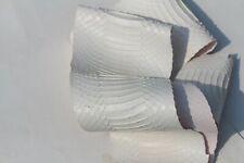 real Cobra SNAKESKIN SNAKE SKIN HIDE tanned Supple leather Matte White
