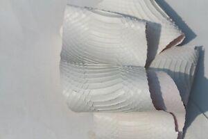 real Cobra SNAKESKIN SNAKE SKIN HIDE tanned Supple leather Satin White