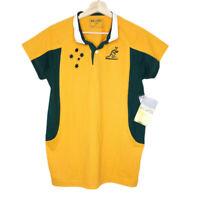 Australian Wallabies NWT 2007 World Cup Rugby Union Womens Polo Shirt Size 14