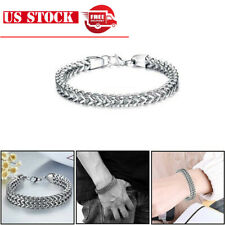 Fashion Titanium Stainless Steel Bracelet Men/Women Silver Wristband Chain