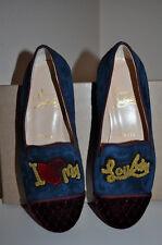 NEW $1,295+ Christian Louboutin My Love Velvet  Flat Loafer Shoes Sz 35 / 5