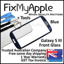Samsung Galaxy S III S3 i9300 i9305 Blue Front Glass Screen Lens Replacement 3G