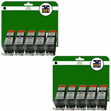 10 C520 Black Ink Cartridges for Canon Pixma MP540 MP550 MP560 MP620 non-OEM