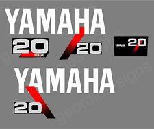 YAMAHA 1991-1999 - 20 moteur hors bord autocollant décalque kit moteur