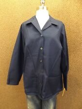 NEW Vtg USA Made Dark Blue Lab Coat Sz 46 Smock Scrub Medical Art Chef Jacket