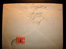1944 RSI Storia Postale SEGNATASSE fascetto 1 LIRA ISOLATO