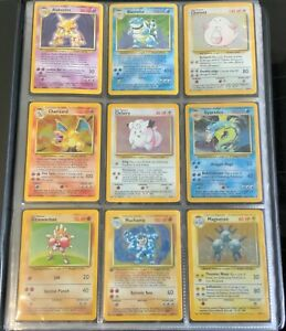 1999 Pokemon base set complete inc Charizard Blastoise & Venusaur all 102 cards!