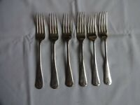 "6 x Vintage  6.75"" Dessert Forks ""Old English"" H Williamson, London"