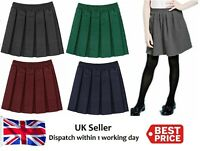 Girls school kid School Uniform Box Pleated Elasticated waist Skirt Age 2-18yrs