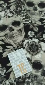 LuLaRoe Floral Skulls TC Leggings Halloween 2019 Creepin It Real Black and white