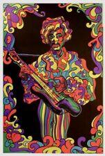 Vintage Jimi Hendrix Blacklight 1969 new old stock psychedelic