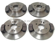 FRONT & REAR BRAKE DISCS AND PADS SET NEW FOR KIA PICANTO 1.0 & 1.3 2011-2016