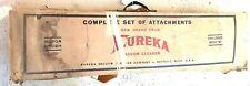 Vintage EUREKA Vacuum Complete Set of Attachments Challenger Model M Case
