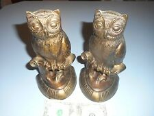 "Vintage Owl Bookends Metal 8.5"" Tall. 1974 S.C.C"