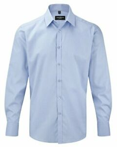 Russell Collection Mens Heringbone Work Shirt - 962M