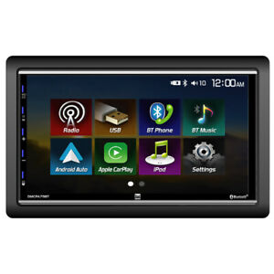 """DUAL DMCPA79BT 7"""" Double Din Mechless Digital Media Receiver with Apple CarPlay"""