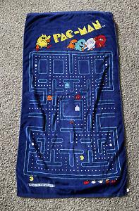 Vintage 80's Pac-Man beach towel Mid Way Cotton Bath Towel Video Games