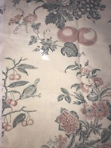 Lee Jofa Bordeaux Toile Red Blue Country French Upholstery Fabric 4Y