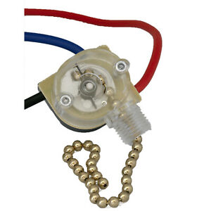3-Way Home Ceiling Fan Light Brass Pull Control Switch Replacement FREE SHIPPING