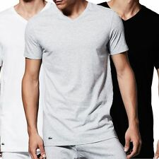 Lacoste Patternless V Neck Loose Fit T-Shirts for Men