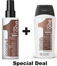 UNIQ 1 COCONUT Treatment 150ml & Uniq 1 Cleansing Balm COCONUT 300ml  by Revlon