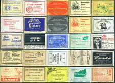 25 alte Gasthaus-Streichholzetiketten aus Kiel, alte Postleitzahl 2300 #71