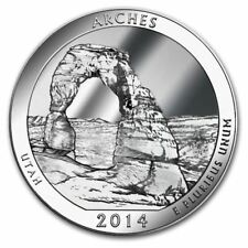 2014 5 oz Silver ATB Arches National Park Coin UT