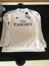Auténticos Adidas Real Madrid Manga Larga Camiseta Hogar 2015/16: Medio Bnwt