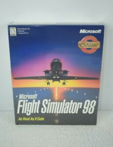 NEW Microsoft Flight Simulator 98 PC CD SEALED BIG BOX BRAND NEW SEALED