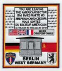 """Внешний вид - Checkpoint Charlie 4"""" square embroidered patch ( LAST ONE)"""