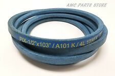 Pix Blue Kevlar 1/2 X 103 Belt For John Deere M86248 GX20072 M112230 and more