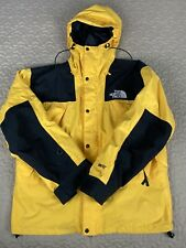 The North Face Vintage Mountain Gore Tex Jacket 90s Yellow Black Mens XL Hoodie