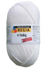 100 Gr.Regia Uni Superweiß Farbe 02080 Socken- Strumpfwolle-Neu