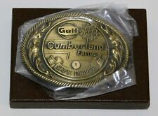 Gulf Oil Cumberland Farms 1 Year Big Rig Safe Driver Belt Buckle w/Box