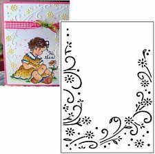 Floral Border Darice embossing folders 1215-69 Cuttlebug Compatible folder A2