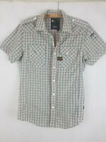 G-Star Raw 3301 Men's Pearl Snap Button Shirt Slim Size L