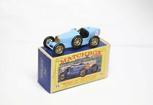 Matchbox Models Of Yesteryear Y6 Supercharged Bugatti Type 35 In Original Box