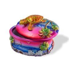 Polyresin turtle trinket box 3inch