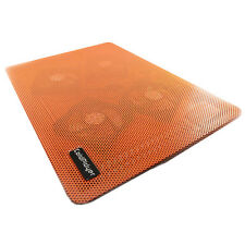 Orange USB 4 Fan Cooler Notebook Cooling Pad Laptop Mute with Blue Light LED