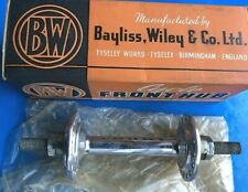 NEW OLD STOCK BOXED VINTAGE BAYLISS WILEY FRONT RACING HUB,LOW FLANGE,32 HOLE