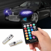 12V Car Remote Control RGB Color Led Bulb T10 5050 6 SMD W5W 501 Side Light Bulb