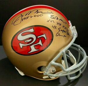 Joe Montana Signed Full Size San Francisco 49ers Replica Helmet W/Inscrip HOLO