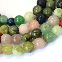 Natural Stone Mixed Beads 6mm 1 Strand 63 Beads Round