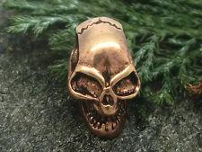 Piccolo teschio bronzo ciondolo 3d teschio perlina con cinturino