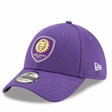 New Era Mens Orlando City SC New Era Mesh 39THIRTY Stretch Fit Cap - Purple