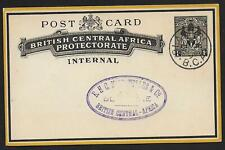 Rhodesia covers 1898 1d Postal Stationery Blantyre not sent