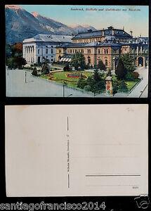AUSTRIA 74.-INNSBRUCK -Stadtsäle und Stadttheater mit Nordkette.