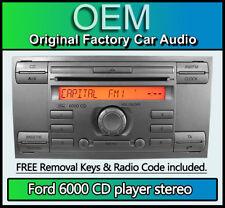 Ford 6000 reproductor de CD, Ford C-Max Headunit Estéreo de Coche + Radio retiro llaves de plata